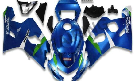 DS Injection Kit Blue Silver Fairing Fit for Suzuki 2004-2005 GSXR 600 750 o093