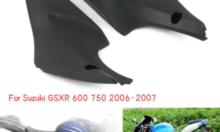 2Pcs Tank Side Cover Panel Fairing Cowl Fit For Suzuki GSXR 600 750 2006 2007 US