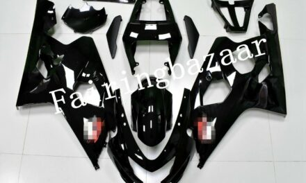 Fit for 2004 2005 GSXR600 GSXR750 Gloss Black ABS Injection Bodywork Fairing Kit