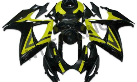 DS Injection Yellow Black Fairing Fit for Suzuki 2006 2007 GSXR 600 750 a061