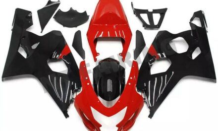 DS Injection Red Black Plastic Fairing Fit for Suzuki 04 05 GSXR 600 750 o089