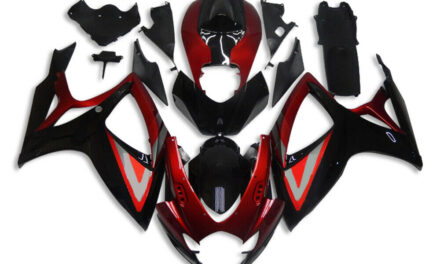 DS Injection Red Black ABS Fairing Fit for Suzuki 2006 2007 GSXR 600 750 a0103