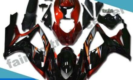 FTC Injection Red Black Fairing Kit Fit for Suzuki 2006 2007 GSXR 600 750 p0110