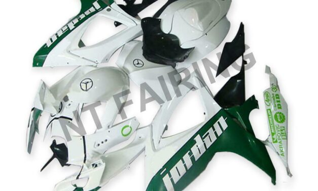 DS Injection White Green ABS Fairing Fit for Suzuki 2006 2007 GSXR 600 750 a056