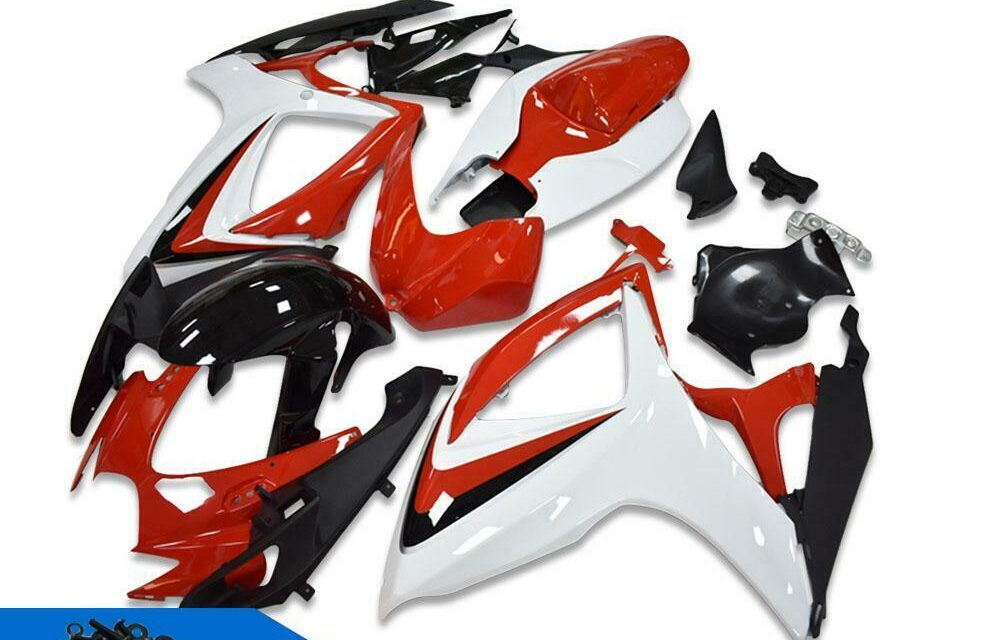 DS Injection White Red Fairing Kit Fit for Suzuki 2006 2007 GSXR 600 750 a097