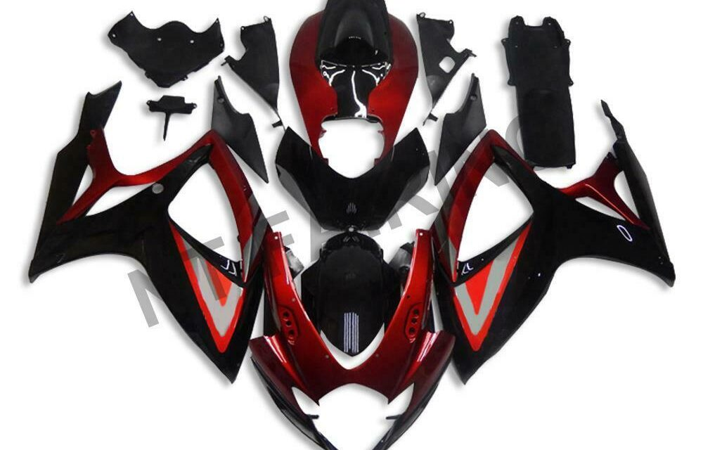 GL Injection Red Black ABS Fairing Fit for Suzuki 2006 2007 GSXR 600 750 a0103