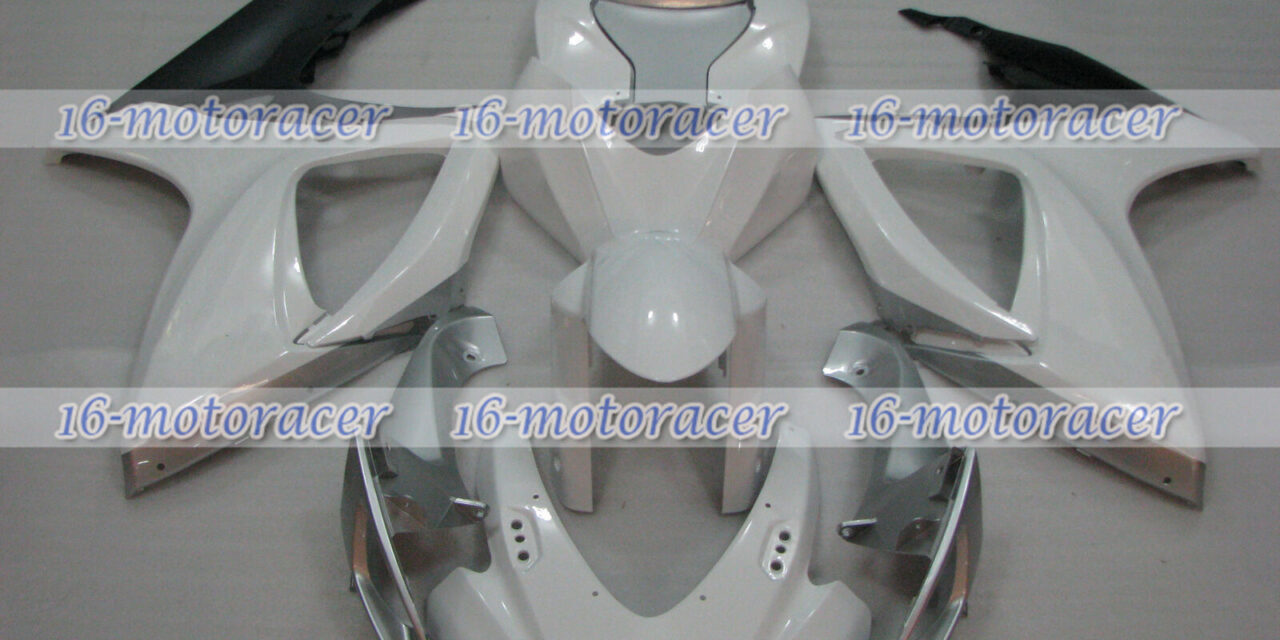 Fairing White Silver Black Injection Fit for 2006-2007 GSX-R 600/750 K6 ABS a#55