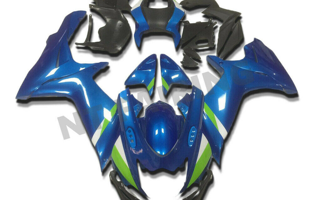 DS Injection Blue Plastic Fairing Fit for Suzuki 2011-2020 GSXR 600/750 a021