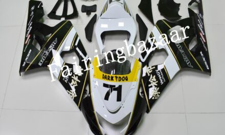Fit for 2004 2005 GSXR600 GSXR750 White Black Gold ABS Injection Fairing Kit