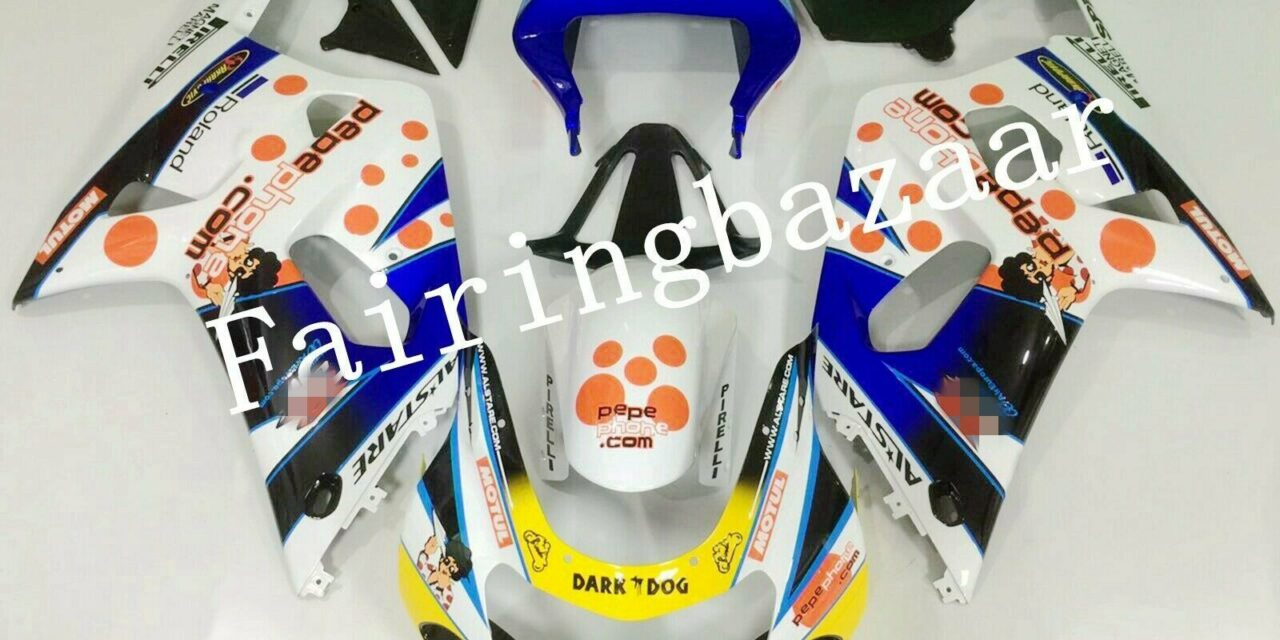 Fit for 2001-2003 GSXR600/750 Blue White Black PEPE ABS Injection Fairing Kit
