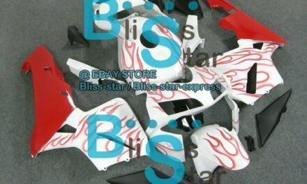 Flames Red INJECTION Fairing Kit For HONDA CBR600RR 2003-2004 73 A6