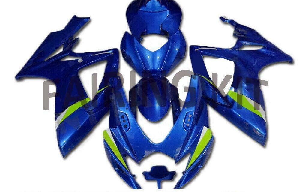 US Stock Injection Blue ABS Fairing Fit for Suzuki 2006 2007 GSXR 600 750 l007