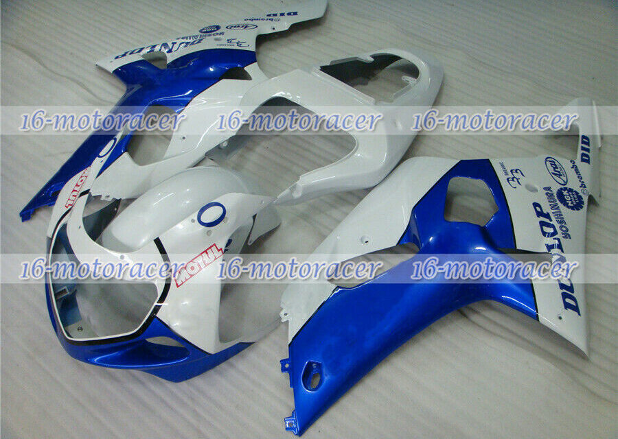 Fairing Blue White Injection ABS Mold Fit for 2001 2002 2003 GSXR 600/750 K1 #25