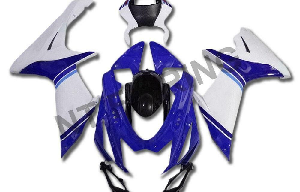 DS Injection Fairing Mold Blue White Fit for Suzuki 2011-2020 GSXR600/750 a032