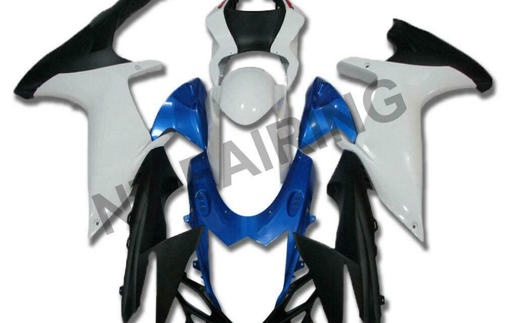 DS Injection Fairing New Blue White Fit for Suzuki 2011-2020 GSXR600/750 a027