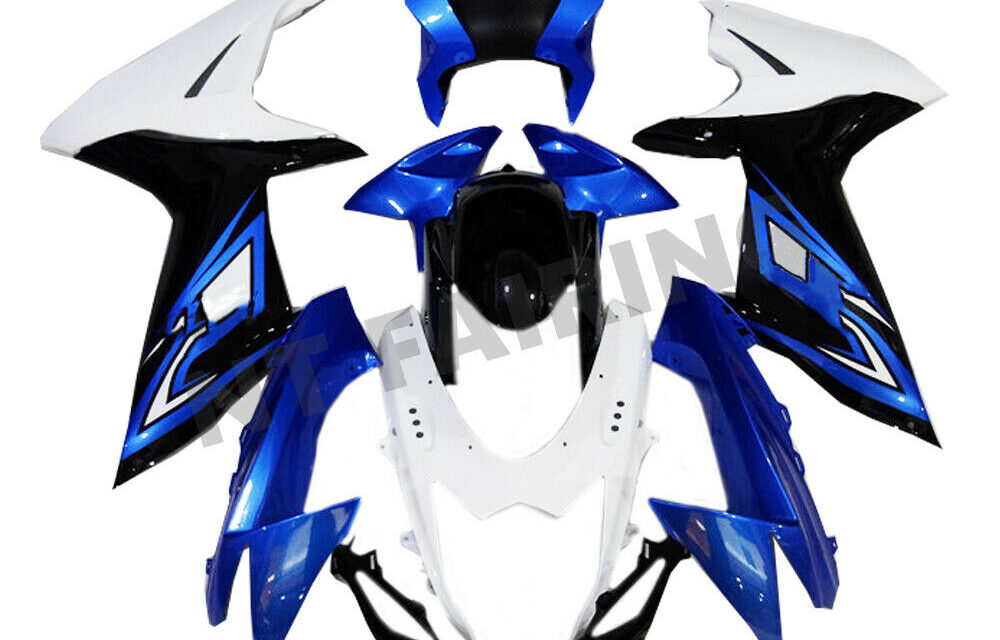 DS Injection Fairing Molded Blue White Fit for Suzuki 2011-20 GSXR600/750 a003