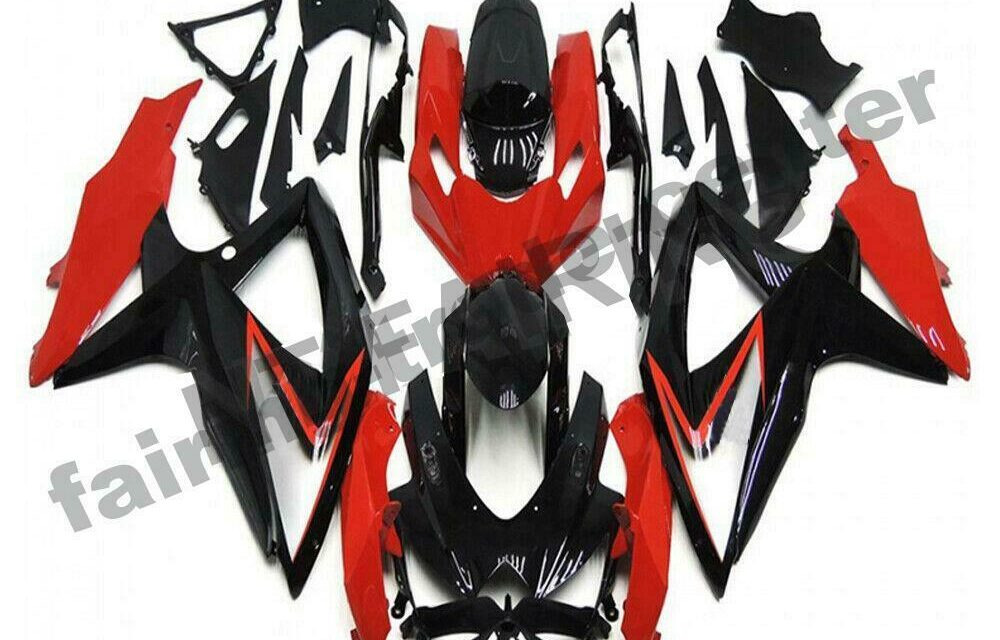 DS Injection Mold Red Plastic Fairing Fit for Suzuki 2008-2010 GSXR600 750 a080