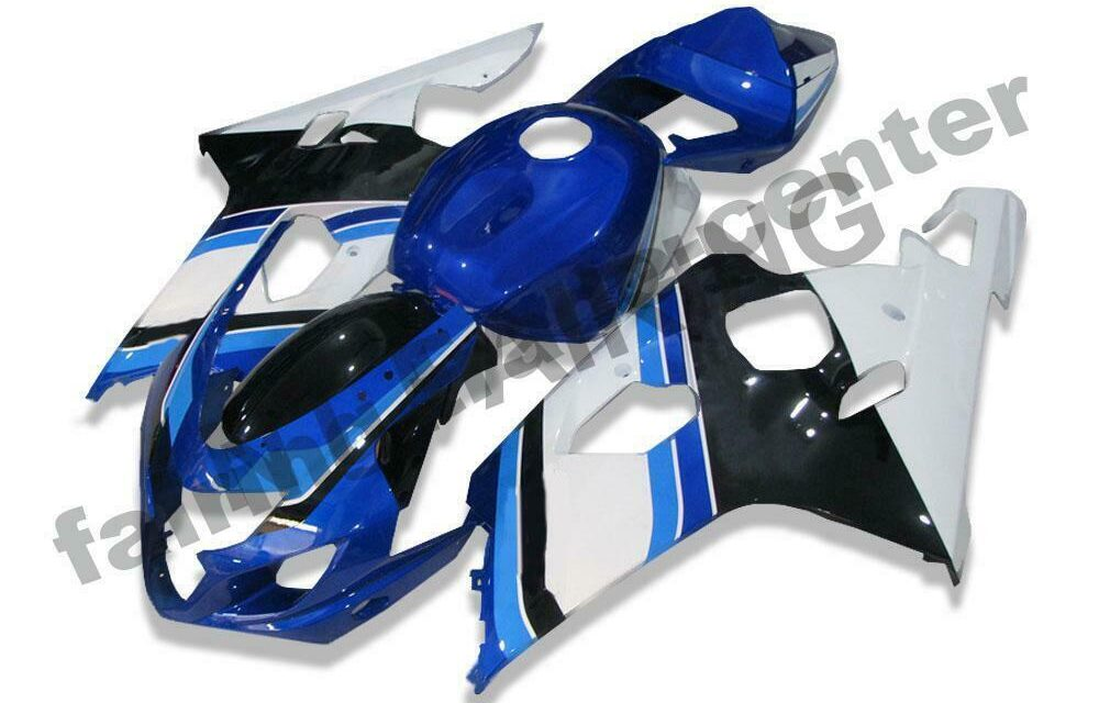 DS White Blue Injection Fairing Kits Fit for Suzuki 2004-2005 GSXR 600 750 o020
