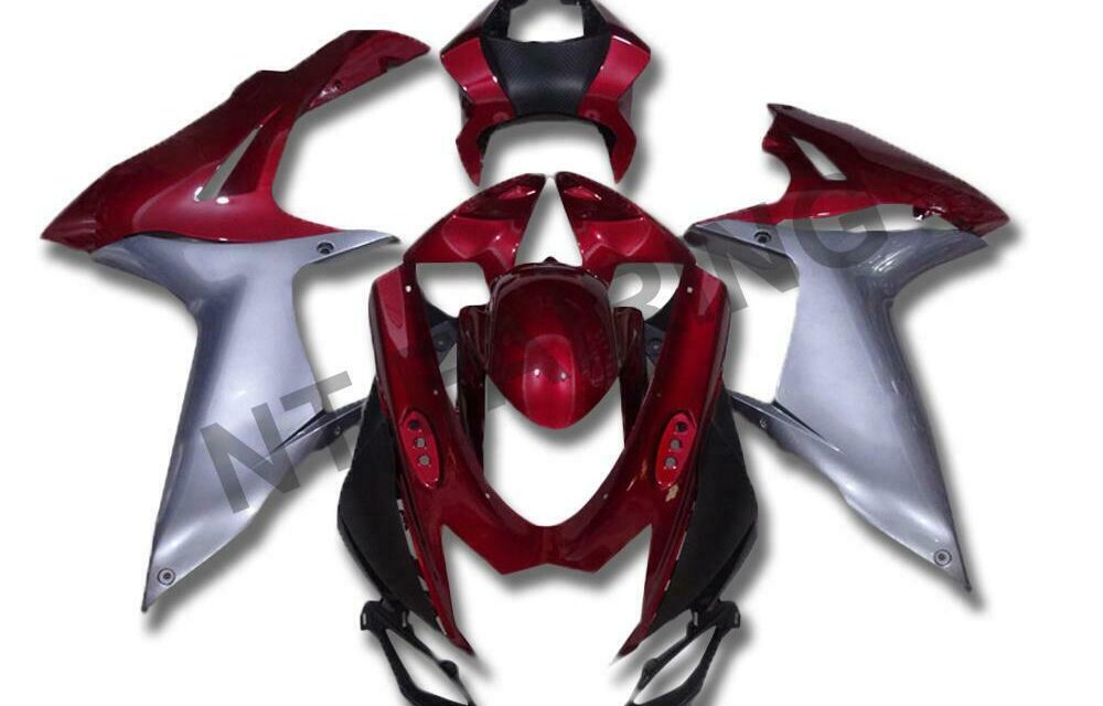 DS Injection Fairing Mold Red Sliver Fit for Suzuki 2011-2020 GSXR600/750 a023