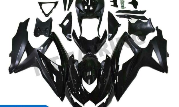 DS Injection Glossy Black Fairing Fit for Suzuki 2008-2010 GSXR 600 750 o032