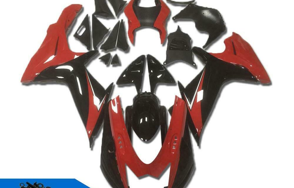 DS Red Black ABS Injection Fairing Fit for Suzuki 2011-2020 GSXR 600 750 a005