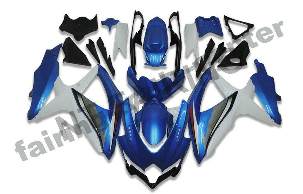 DS Injection Fairing New Blue Fit for Suzuki 2008-2010 GSXR600/750R a063