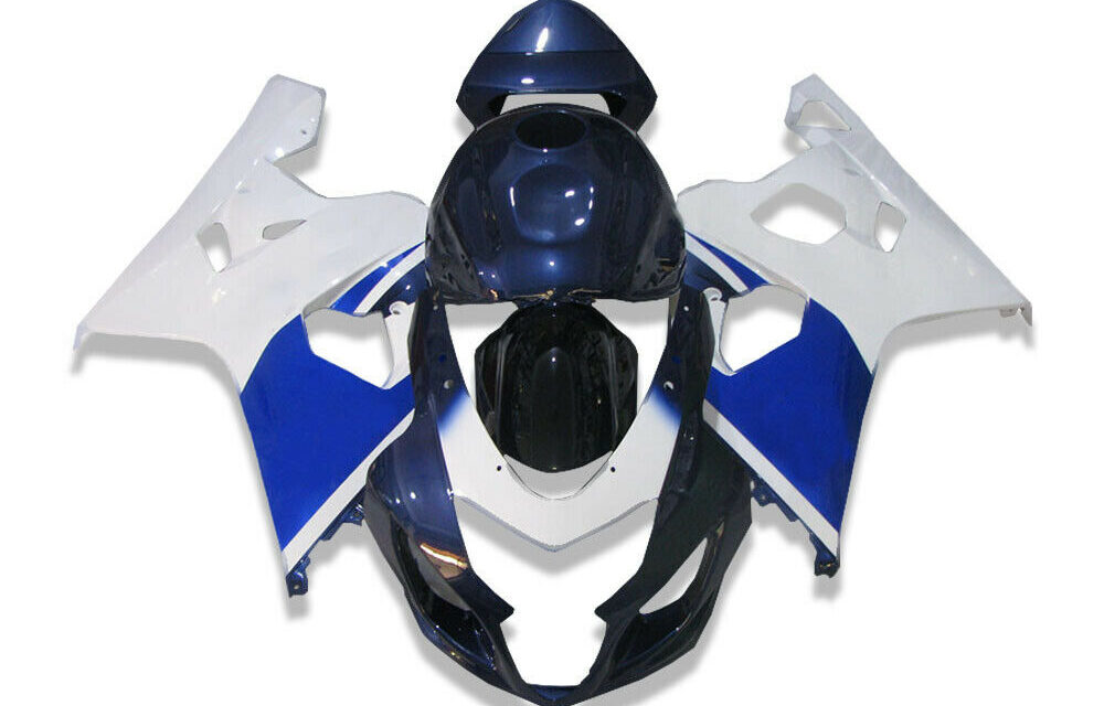 DS White Blue Injection Fairing Kits Fit for Suzuki 2004-2005 GSXR 600 750 o018