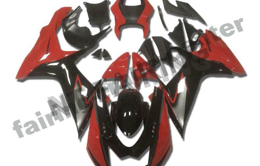 DS Fairing Injection Mold Red black Fit for SUZUKI 2011-2020 GSXR 600/750 a031