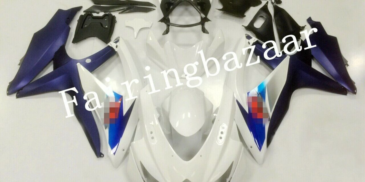 Fit for 2008-2010 GSXR600 GSXR750 White Matte Purple ABS Injection Fairing Kit