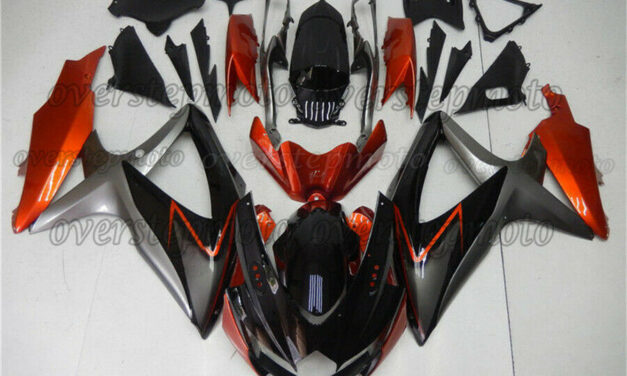 Injection Mold Fairing Package Suitable For GSX-R 600/750 2008-2010 Orange Grey Black ABS