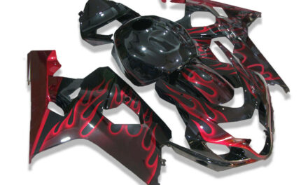 SC Black Red Injection Fairing Kits Fit for Suzuki 2004-2005 GSXR 600 750 o017
