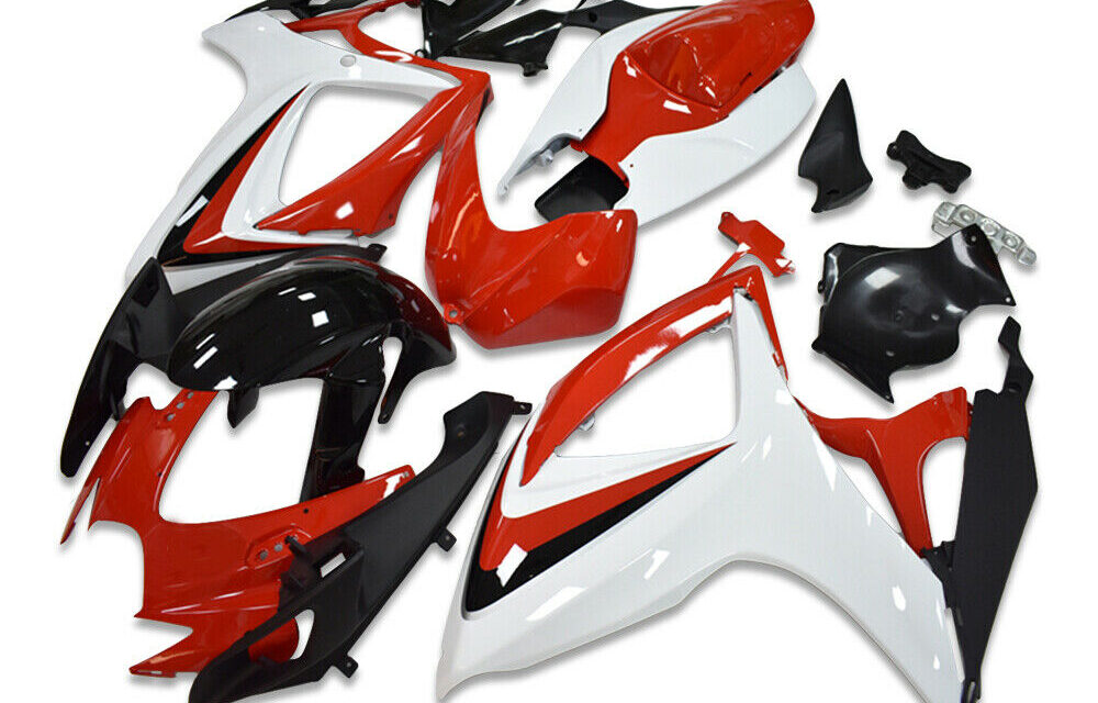 SC Injection Red Plastic Fairing Set Fit for Suzuki 2006 2007 GSXR 600 750 a097