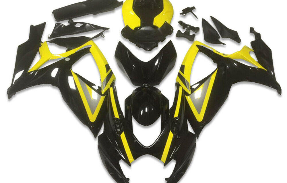 SC Injection Molded Black Fairing Fit for Suzuki 2006 2007 GSXR 600 750 a038