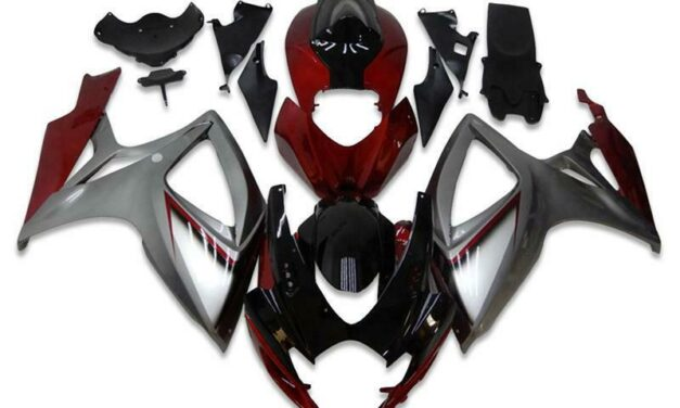 SC Injection Red Silver Fairing Kit Fit for Suzuki 2006 2007 GSXR 600 750 a006