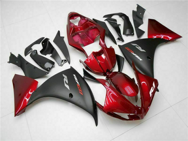 Red Black Injection Plastic ABS Fairing Fit for Yamaha YZF R1 2009-2011 YU