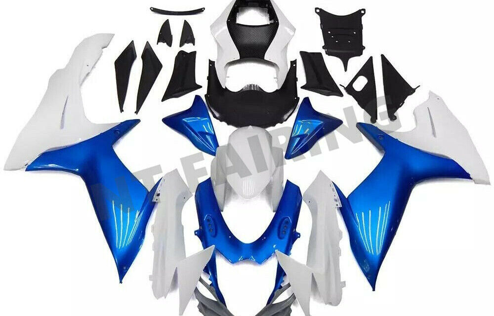 DS Blue White Fairing Suitable For SUZUKI 2011-2020 GSXR 600/750 Injection Mold a016