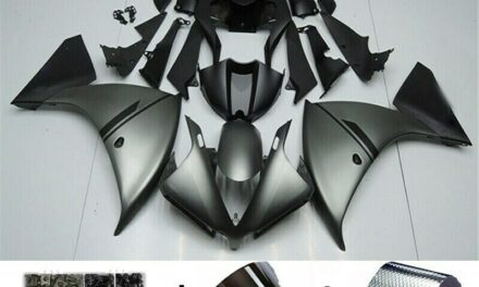 ABS Injection Plastic ABS Fairing Fit for Yamaha YZF R1 2012-2014 Grey Black T8