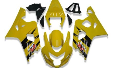 SC Injection Kit Yellow Plastic Fairing Fit for Suzuki 04 05 GSXR 600 750 o072
