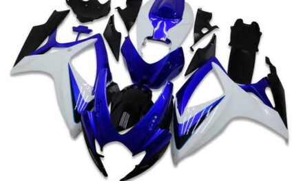 SC Injection Blue White Fairings Fit for Suzuki 2006 2007 GSXR 600 750 a005