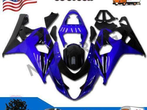 Injection Mold Blue Fairing Kit Fit for Suzuki 2004 2005 GSXR 600 750 a050
