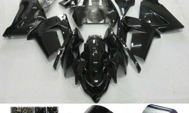 Fairing Injection Plastic Kit Glossy Black Fit For Kawasaki Zx10R 2004-2005 H2