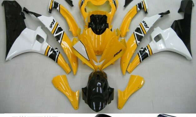Fairing Yellow White Injection Plastic Kit Fit For YAMAHA YZF-R6 2006 2007 H2