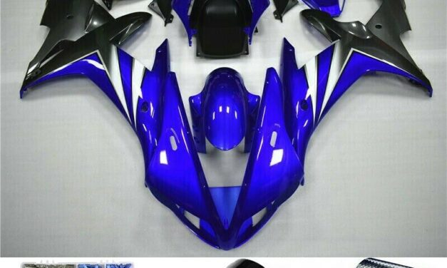 ABS Gloss Blue Injection Plastic Kit Fairing Fit For Yamaha YZF R1 2002-2003 H2