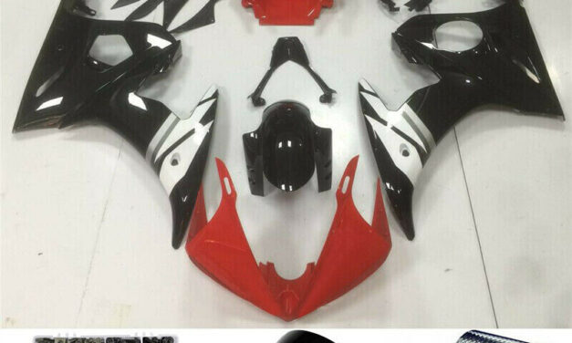Fairing Injection Plastic Kit Red White Fit For YAMAHA 2003 2004 YZF R6 H2
