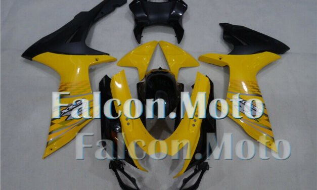 Injection Fairing ABS Plastic Fit for GSXR 600/750 2011-2019 K11 Yellow Black DR
