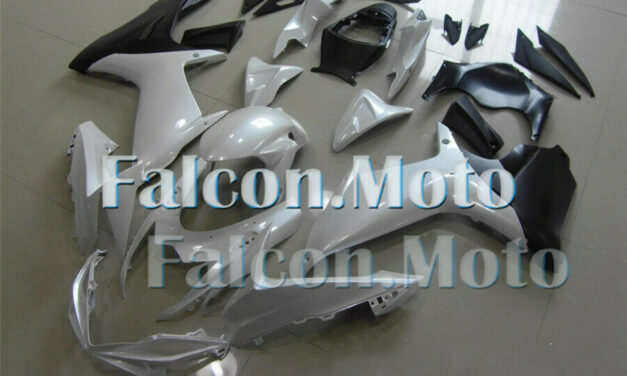 White Black Fairing Fit for 2011-2019 GSXR 600 750 K11 Injection ABS Plastic iAX