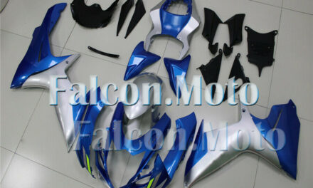 Silver Blue Injection Body Kit Fairing Fit for 2011-2019 GSXR 600 750 K11 ABS BJ