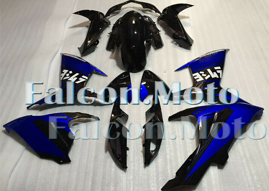 Blue Black Complete Fairing Injection Kit Fit for 2011-2019 GSXR 600 750 K11 iAO