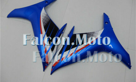 Left+Right Side Mid Cowl Fairing for 2011-2018 GSXR 600/750 K11 Blue ABS New aAE