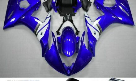Fairing Blue White Injection Plastic Kit Fit For YAMAHA 2003 2004 YZF R6 UE